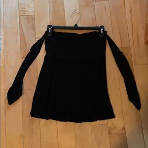 Worn once. Black off the shoulder with sleeves top